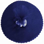 200 Scalloped Tulle Circles 23cm Wedding Favour Wrap - Navy Blue