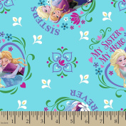 1/2 Yard - Disney Frozen Sisters Forever - Disney Officially Licenced (Great for Quilting, Sewing, Craft Projects, Quilt, Throw Pillows & Mo) 1/2 Yard X 110cm