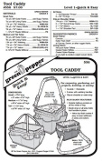 Gardeners' Artists' Carpenters' Seamstress' Knitters' Tool Caddy Bag Tote #556 Sewing Pattern