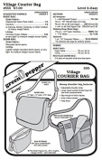 Village Courier Bag Messenger Bag Purse #555 Sewing Pattern