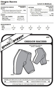 Oregon Biking Riding Bicycle Shorts #409 Sewing Pattern