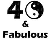 5.1cm Round - 40 & Fabulous Birthday - Edible Cake/Cupcake Party Topper!!!
