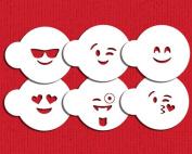Emojis Cookie Stencil Set C983 by Designer Stencils