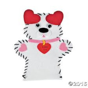"12 Valentine Kits ""Puppy Luv"" Arts and Crafts Lacing Puppets"