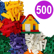 500 Building Bricks - Tight Fit and Compatible with All Major Brands - Most are Large Blocks + Free Brick Seperator