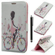 Note 4 Case,Note 4 Leather Case,Qbily Beautiful Fairy Girls Pattern Butterfly Flowers Pink PU Leather Cases Covers Glitter Bling Diamond Rhinestone Decoration Scratch-Resistant Soft Lining Shell with Magnetic Closure Buckle Credit Card Slot Pouch Stand ..