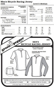 Men's Bicycle Racing Jersey Shirt #402 Sewing Pattern