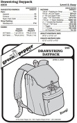 Drawstring Daypack Backpack Bag #203 Sewing Pattern