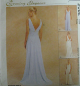 McCall's 2082 Evening Elegance sewing pattern lined gown