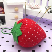 Ioffersuper 2Pcs Cute Strawberry Style Pin Cushion Pillow Needles Holder Sewing Craft Kit