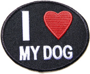 I LOVE MY Dog Puppy Pet Cartoon Baby Jacket T-shirt Patch Sew Iron on Embroidered Sign Badge Costume Clothing