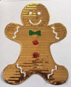 Gingerbread Patch Hotfix Transfer Iron On Heat Press MOTIF applique DIY crystal Its all about Jesus