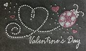 Valentine's Day Rhinestone Transfer Iron On, Hotfix , Heat Press MOTIF applique DIY crystal Lady Bug
