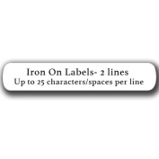 Iron On Clothing Labels - White - with 2 lines text - Personalise your way! Your choice of ink colour.