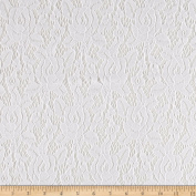 Telio Camellia Lace Solid White Fabric By The Yard