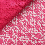 Beguiling Blossomy Lace Fabric Bolt - Fushia- 140cm X 15 Yards