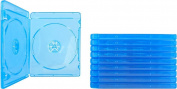 AcePlus Bluray Case Double 10 pieces with Clear Sleeve and Silver Screen Print Logo