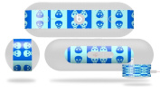 Skull And Crossbones Pattern Blue Decal Style Skin - fits Beats Pill Plus