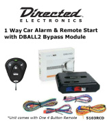 Ready Remote 5103R 1 Way Car Alarm & Remote Start System with One 4 Button Remote and Bypass Module DBALL2 Package