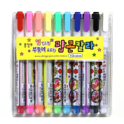 Dong-a Popcorn Puffy Paint Pen -10 Colour Decorating, Decorating Cards,drawing