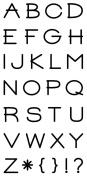 Inkadinkado Clear Stamp Mid Century Alphabet