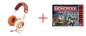 Star Wars Astromech Droid Headphones and Monopoly Here & Now Game - Bundle