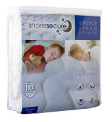 Box Spring Encasement By Snore Secure | Fitted Style, Waterproof, Breathable, Hypoallergenic, Vinyl Free | Protection Against Bed Bugs & Dust Mites | Noiseless, No Crinkling