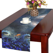D-Story Night Sea With Fractal Waves Table Runner 41cm x 180cm For Dinner Parties Events Home Decor