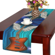 D-Story Base Guitar With Wings Table Runner 36cm x 180cm For Dinner Parties Events Home Decor