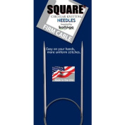 Kollage Square Circular 9-inch (23cm) Knitting Needle Firm Cable; Size US 0
