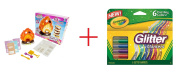 Yummy Nummies Mini Kitchen Magic Playset - S'mores Maker and Crayola 6-Count Glitter Markers - Bundle