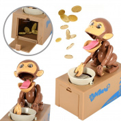 Balai Cute Monkey Stealing Money Box Coin Bank Robotic Toys Plastic Piggy Saving Banks