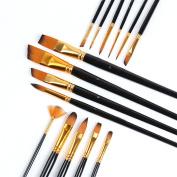 TraveT Nylon Hair Watercolour Brush Multi Purpose Paint Brush Set Acrylic Oil Painting Brush