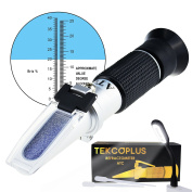 Optics Beer Wort Refractometer with ATC, Dual Scale 0-25%vol and Alcohol & 0-40% Brix, for Wine Making, Homebrew Kit, Winemakers Beermakers, with LED light and pipettes