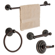 Dynasty Hardware 3800-ORB-4PC Palisades Series Bathroom Hardware Set, Oil Rubbed Bronze, 4-Piece Set, With 60cm Towel Bar