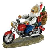 Design Toscano Old School Father Christmas Santa Biker Statue