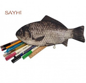 MorningRising Carp Fish-like Zipper Pouch Weird Pen Pencil Case Makeup Case/ Bag