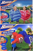 Kids Inflatable Mega Boxing Gloves 1 set and Bump n Bounce Body Bumpers - 2 bumpers included Bundle by Banzai