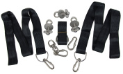 Tyre Swing Hanging Kit - Holds over 680kg, 3 Stainless Steel Eye Bolts and Locking Nuts, 3 Webbed Straps, 4 Locking Carabiners with Screw Locks, and One Swing Swivel