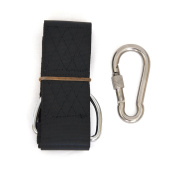 Swing Hanging Kit, 1.2m Strap with Stainless Steel Connexion Ring, Fits Any Tree, Connects to Any Swing