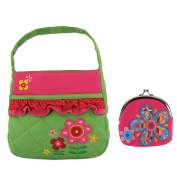 Stephen Joseph Quilted Flower Purse with Signature Flower Coin Purse - Girls Purses by Stephen Joseph