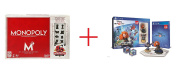 Monopoly Game (80th Anniversary) and Disney Infinity (2.0 Edition) Toy Box Starter Pack featuring Disney Originals for Sony PS4 - Bundle