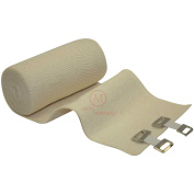 10cm Elastic Bandages with Clips (Pack of 10), MCR Medical