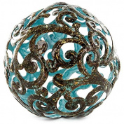 Blue Fancy Metal Decorative Sphere