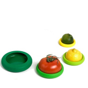 Farberware Food Huggers Reusable Silicone Food Savers and Colourful Covers, Set of 4