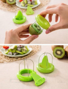 DZT1968 1pc Useful Home Kitchen Multifunction Kiwi Fruit Cutter Peeler Slicer Gadgets Tool Green
