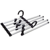 Prettysell Closet Pant Stand Rack Magic Space Saver Hanger 5 In 1 New