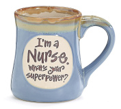 1 X I'm a Nurse Superpower Light Blue 530ml Mug