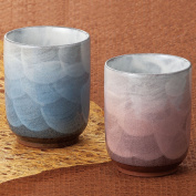 Pair Tea Cups Yusai Kutani Yaki Yunomi