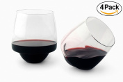 Cortunex Saturn Wine Glass | Unique and Elegant Spill-resistant Red Wine Glass Design | Great Christmas Gift Idea | Set of 4